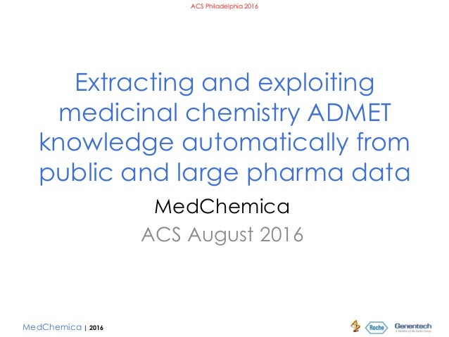 MedChemica | 2016 ACS Philadelphia 2016 Extracting and exploiting medicinal chemistry ADMET knowledge automatically from p...
