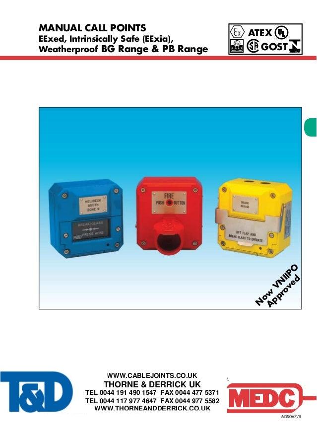 MEDC Manual Call Points & Break Glass Units for Hazardous Areas