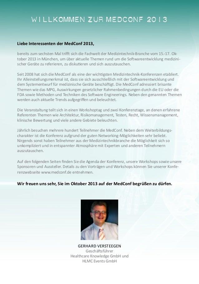 MedConf 2013 - Der Treffpunkt der Medizintechnik-Fachwelt Slide 2