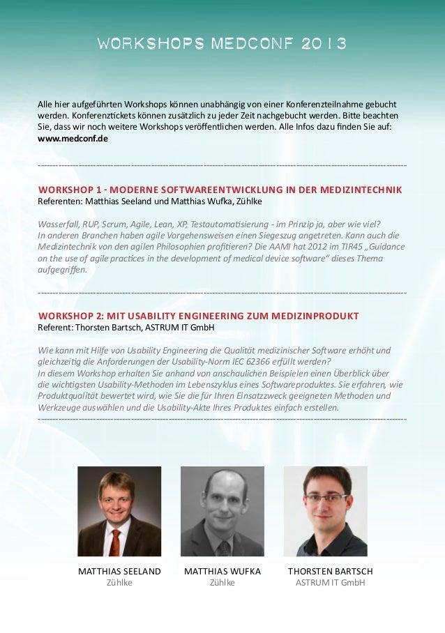 MedConf 2013 - Der Treffpunkt der Medizintechnik-Fachwelt Slide 3