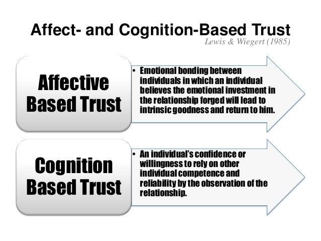 cognition based trust