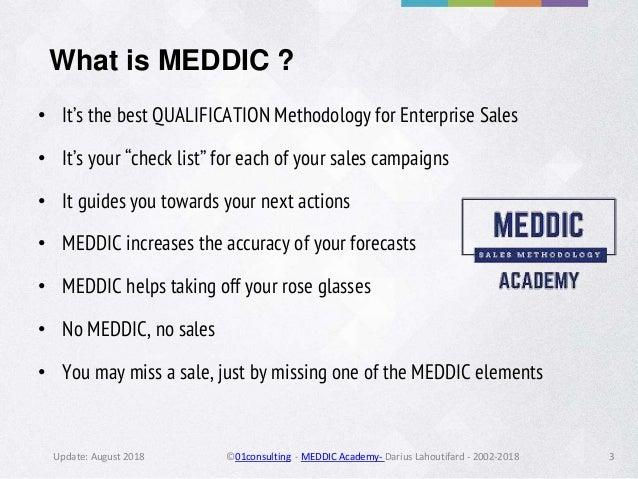 Meddic Sales by MEDDIC Academy - 2018  Slide 3