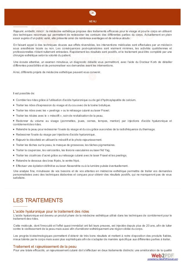 Médecine Esthétique Nantes Rajeunir, embellir, mincir : la médecine esthétique propose des traitements efficaces pour le v...