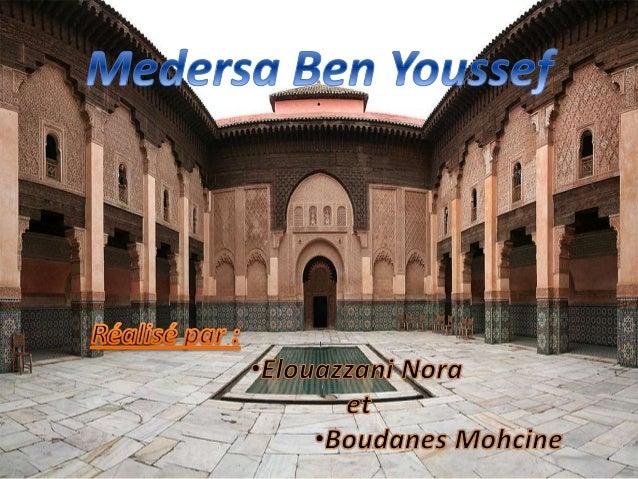La Medersa Ben Youssef est l'un des monuments les plus prestigieux de Marrakech. Edifiée dans la seconde moitié du XVI siè...