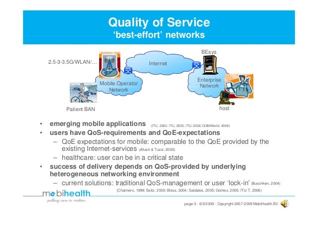 Towards Quality of Service-Awareness of Mobile Healthcare Services Slide 3