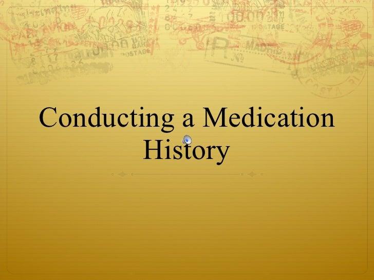 Conducting a Medication History