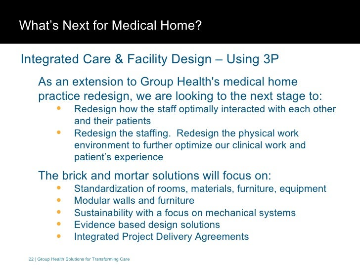 Group health cooperative medical home model