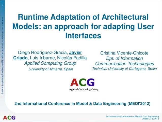 1                                                                                        Runtime Adaptation of Architectur...