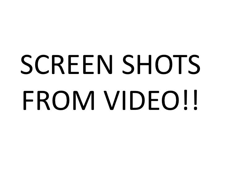 SCREEN SHOTS FROM VIDEO!!<br />