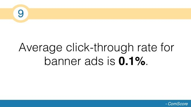 Average click-through rate for banner ads is 0.1%.! - ComScore 9!
