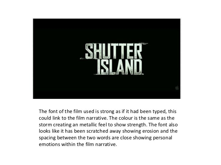 Shutter island narrative