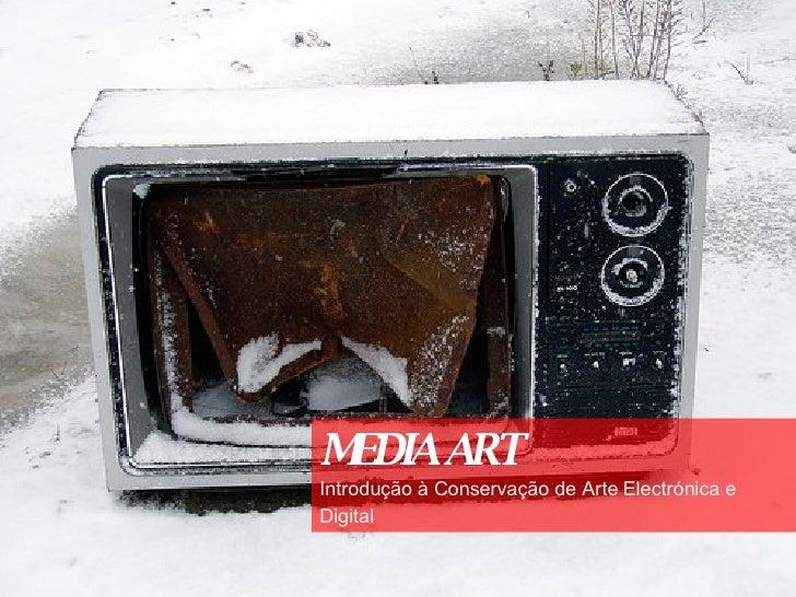 MEDIA ART Introdução à Conservação de Arte Electrónica e Digital