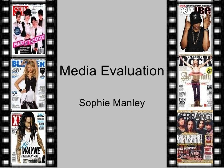 Media Evaluation Sophie Manley