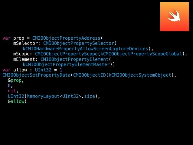 // open AudioFile for output var forwardAudioFile: AudioFileID? err = AudioFileCreateWithURL(forwardURL, kAudioFileCAFType...