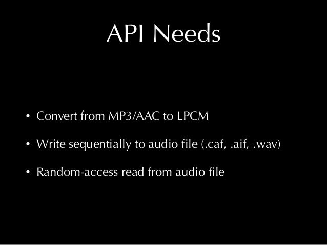 /** Convert a source audio file (using any Core Audio-supported codec) and create LPCM .caf files for its forward and back...