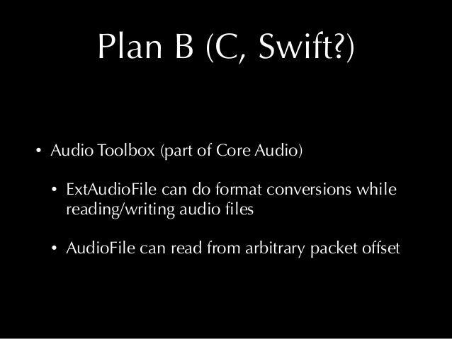 C APIs on iOS/macOS • Core Foundation • Core Audio • Core Media • Video Toolbox • Keychain • IOKit • OpenGL • SQLite • Acc...