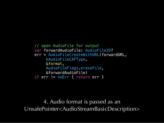 Also, don't do this • Call objc_msg_send() • Capture any Objective-C or Swift object • Allocate memory Basically, if you t...