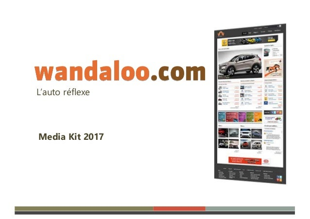 wandaloo.com L'auto réflexe Media Kit 2017