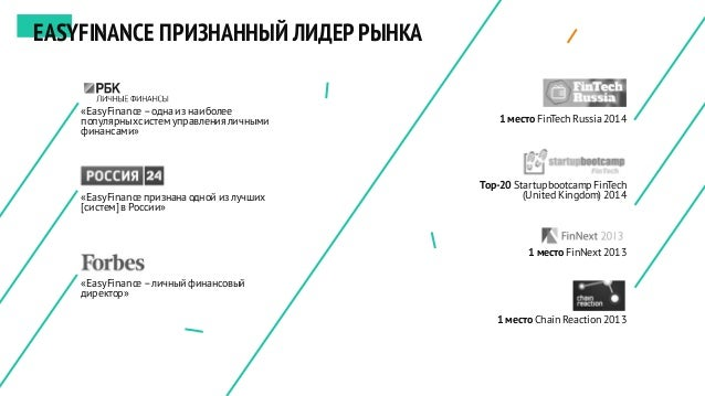1 место FinTech Russia2014 Top-20 Startupbootcamp FinTech (United Kingdom) 2014 1 место FinNext 2013 1 место Chain Reactio...