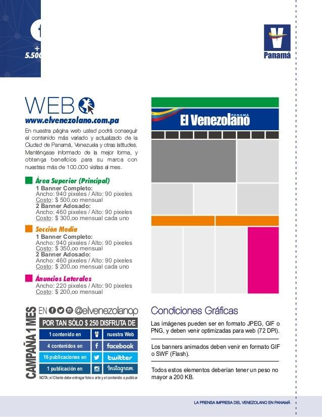LA PRENSA IMPRESA DEL VENEZOLANO EN PANAMÁ + de 5.500 Fans + de 18.500 Seguidores + de 9.500 Seguidores En nuestra página ...