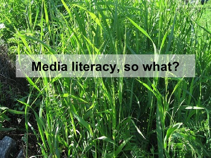 Media literacy, so what?
