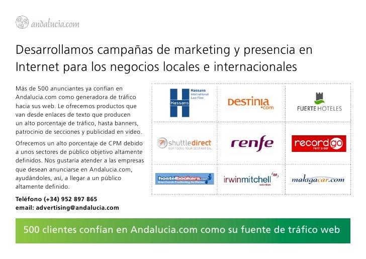 Desarrollamos campañas de marketing y presencia enInternet para los negocios locales e internacionalesMás de 500 anunciant...