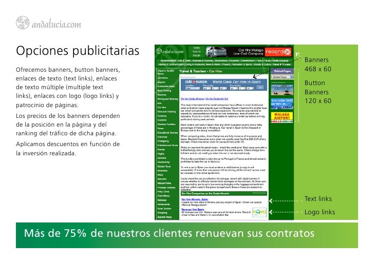 Opciones publicitarias                                                      BannersOfrecemos banners, button banners,     ...