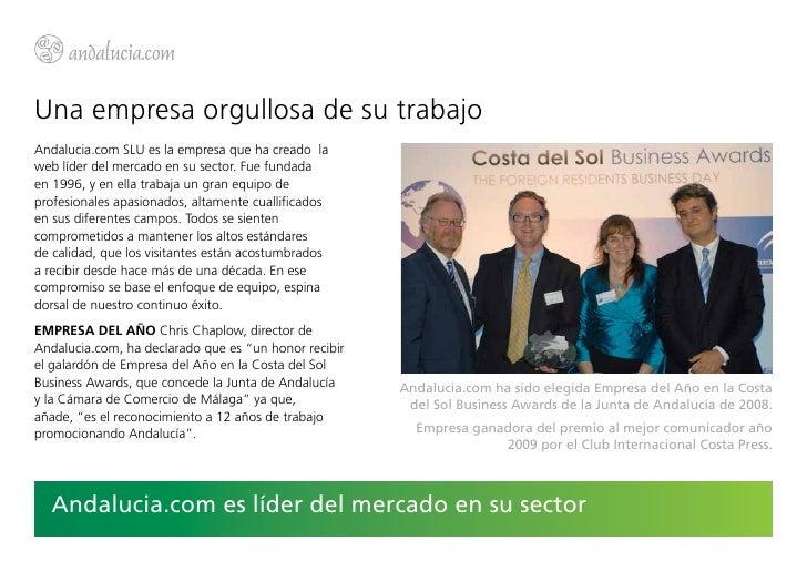 Una empresa orgullosa de su trabajoAndalucia.com SLU es la empresa que ha creado laweb líder del mercado en su sector. Fue...