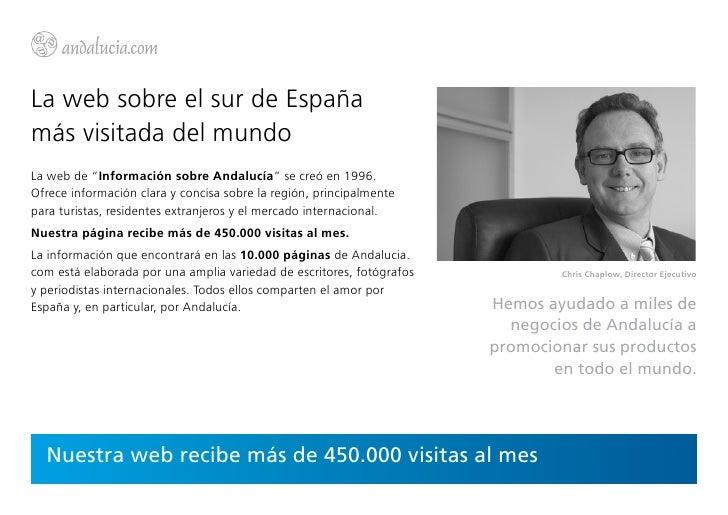 """La web sobre el sur de Españamás visitada del mundoLa web de """"Información sobre Andalucía"""" se creó en 1996.Ofrece informac..."""