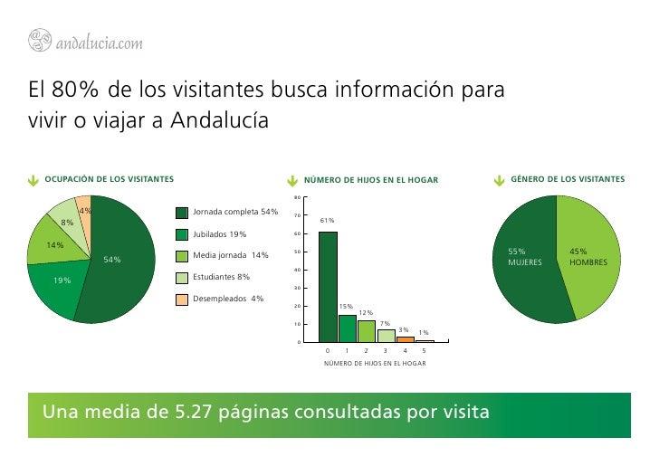 El 80% de los visitantes busca información paravivir o viajar a Andalucía OCUPACIÓN DE LOS VISITANTES                     ...