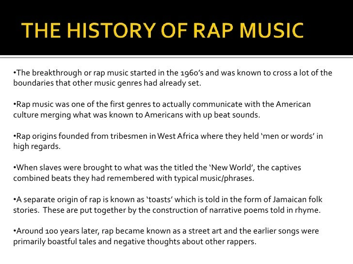 the origin of rap music