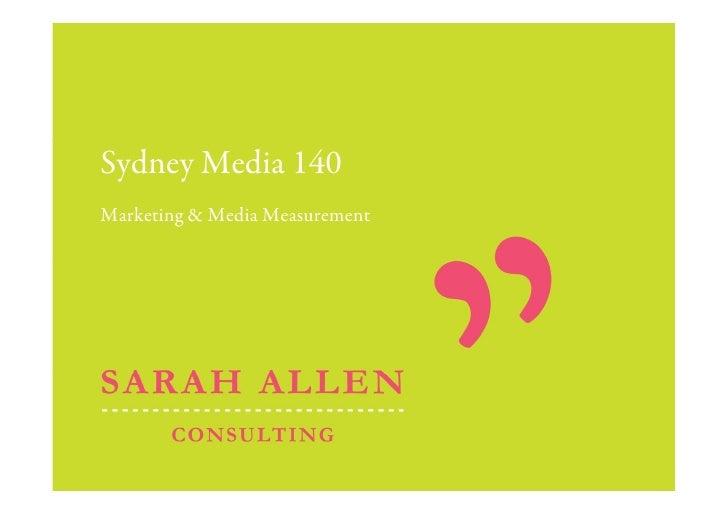 Sydney Media 140 Marketing & Media Measurement