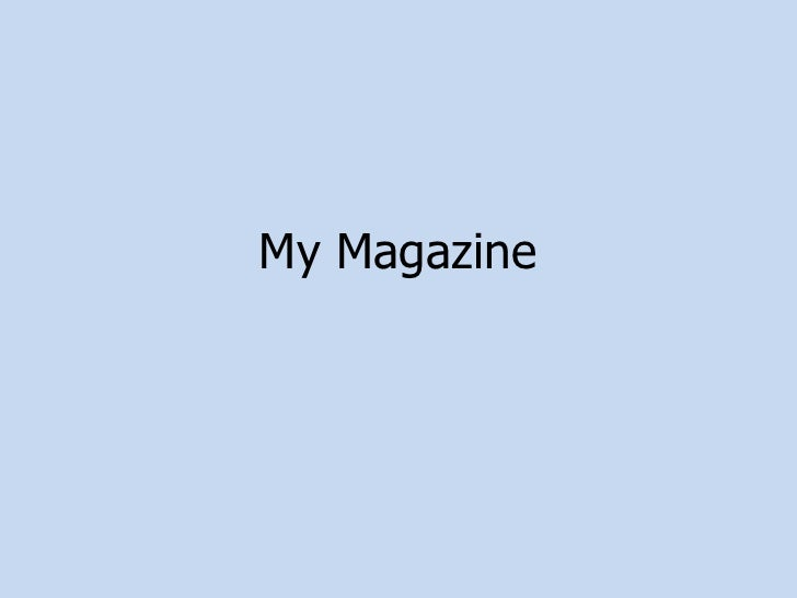 My Magazine<br />