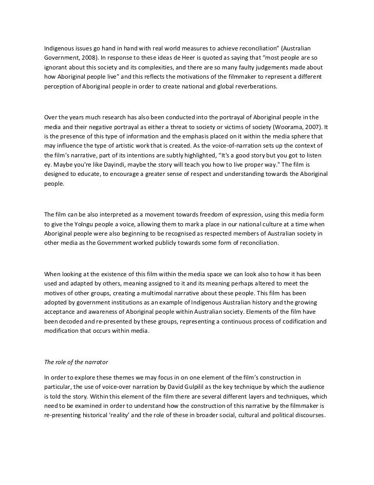 Film-Analyse-Papier Beispiel