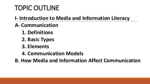 introduction to media and communication Comm 1010 – introduction to communication & media studies – spring 2015  professor garrett broad class time / location: monday/thursday 8:30am-9: 45am.
