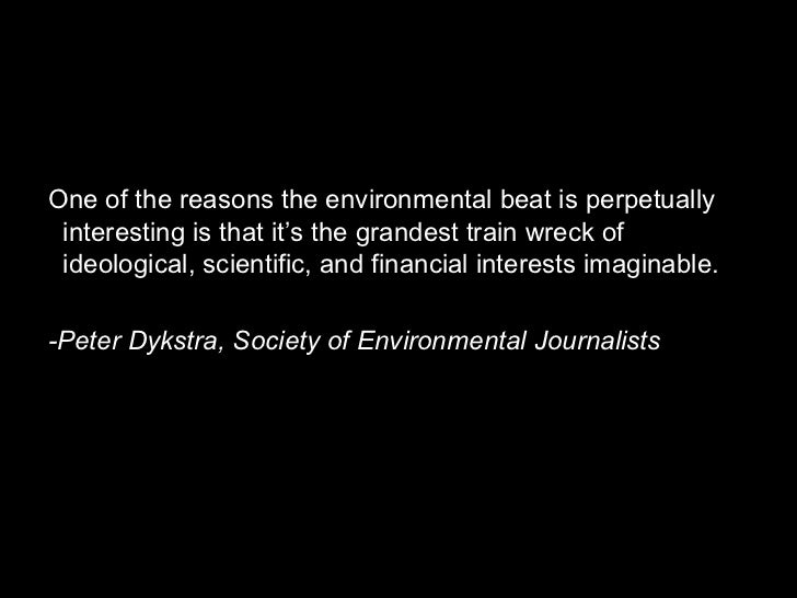 Media and natural resource and environmental policy