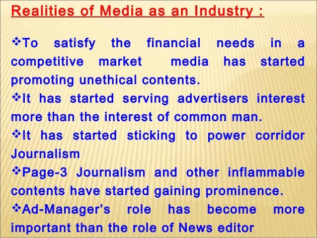 "media responsibility towards the society Indian media – social responsibility and the challenges ahead ""congress shall make no lawabridging the freedom of speech or of the press."