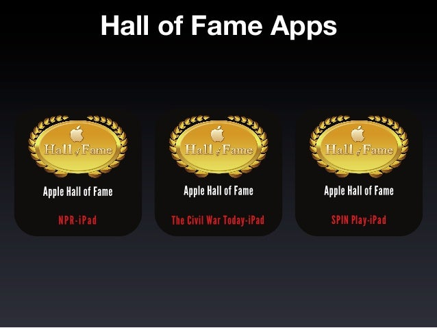 Hall of Fame Apps                SPIN Play-iPad