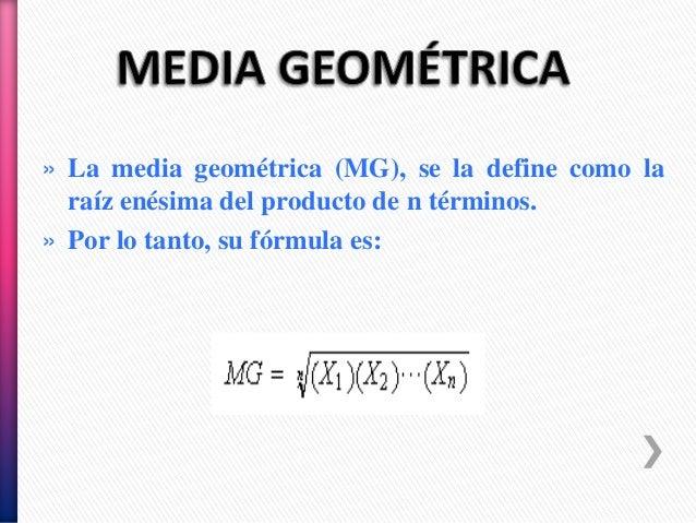 Método de la media geométrica