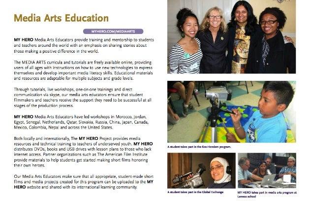 The MY HERO Project Media Arts Education Program