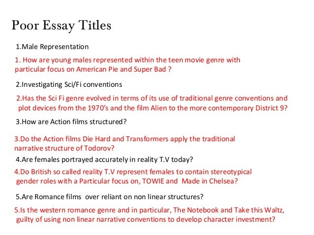 romance essay titles