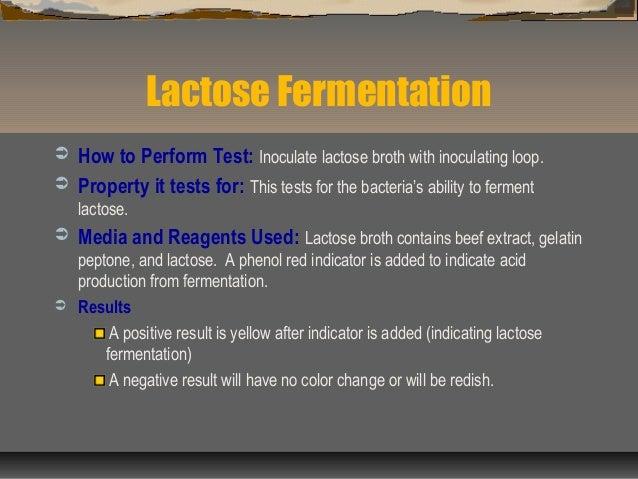 Media biochemical tests