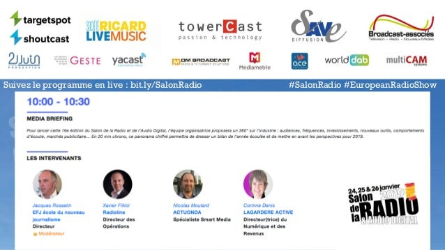 Suivez le programme en live : bit.ly/SalonRadio #SalonRadio #EuropeanRadioShow