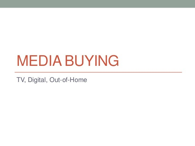 what are media buying services