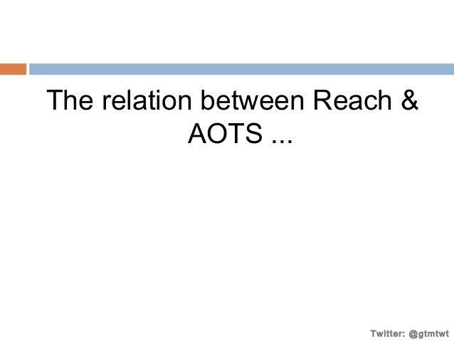 The relation between Reach & AOTS ...  Twitter: @gtmtwt