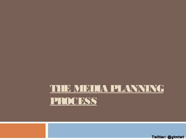 THE MEDIA PLANNING PROCESS  Twitter: @gtmtwt