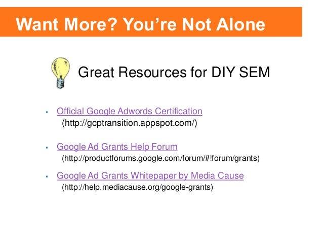 Google Adwords Certification Length