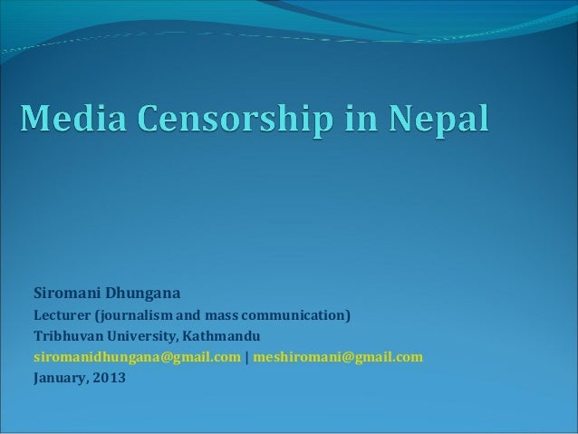 Censorship research paper thesis
