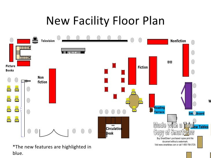 Media center facilities plan emily harn for Media center plans
