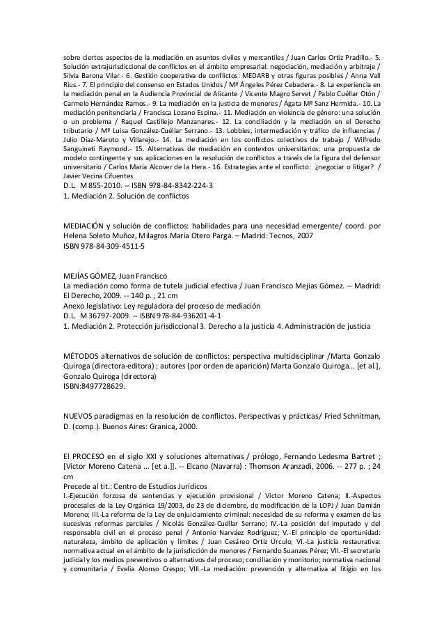 Mediaci n resolucion de conflictos sin recurso a jurisdiccion for Mediacion penitenciaria